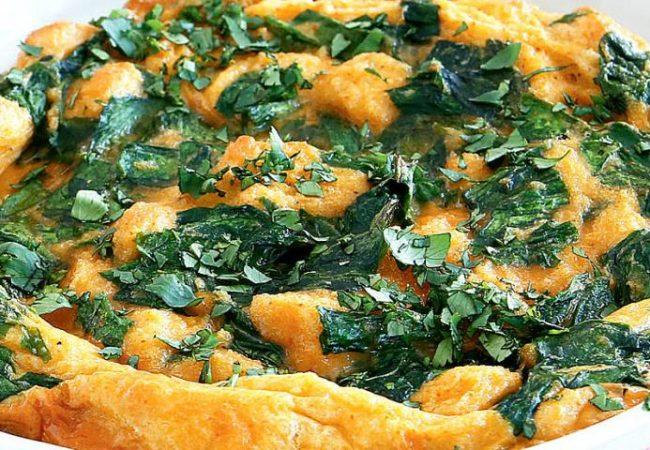 Запеченный зеленый омлет | Рецепты с фото