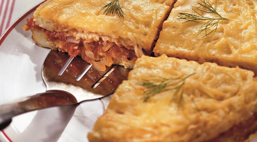 Запеканка из лапши, помидоров и сыра | Рецепты с фото