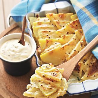 Запеканка картофельная с луком-пореем | Рецепты с фото