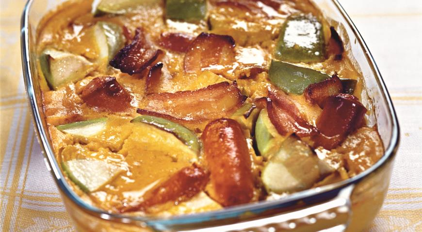 Запеканка с сосисками и яблоками | Рецепты с фото