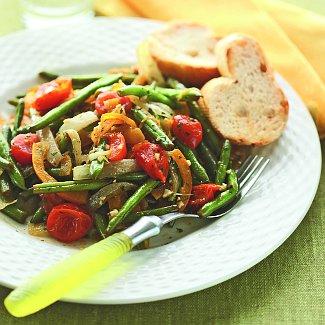 Зеленая фасоль с помидорами | Рецепты с фото