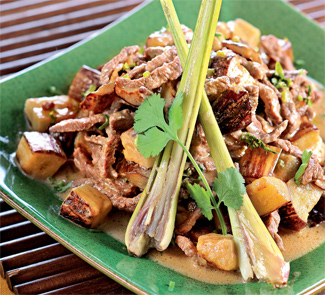 Зеленое карри с баклажанами и говядиной | Рецепты с фото