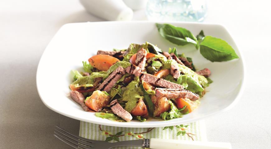 Зеленый салат с имбирной заправкой   Рецепты с фото
