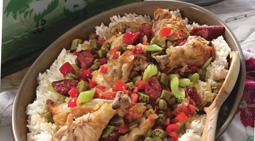 Жареный цыпленок в стиле гамбо | Рецепты с фото
